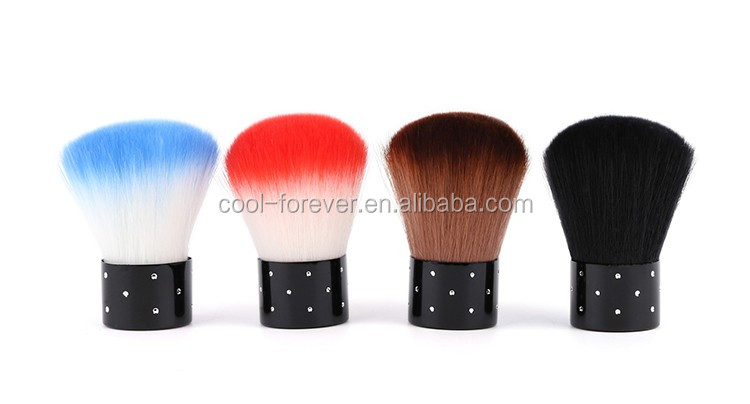 Short handle soft hair mix colors nail dust brush