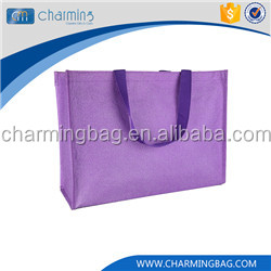 Newest selling excellent quality cotton zipper ,hadles fabric shopping bag