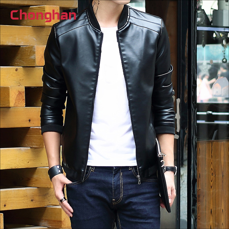 Chonghan Fashion High Quality Low MOQ Black Colour Stock Lot Men Apparel Jacket