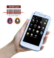 1D 2D barcode scanner android smartphone/ rugged industrial tablet with Gorilla touch screen 5 inch size