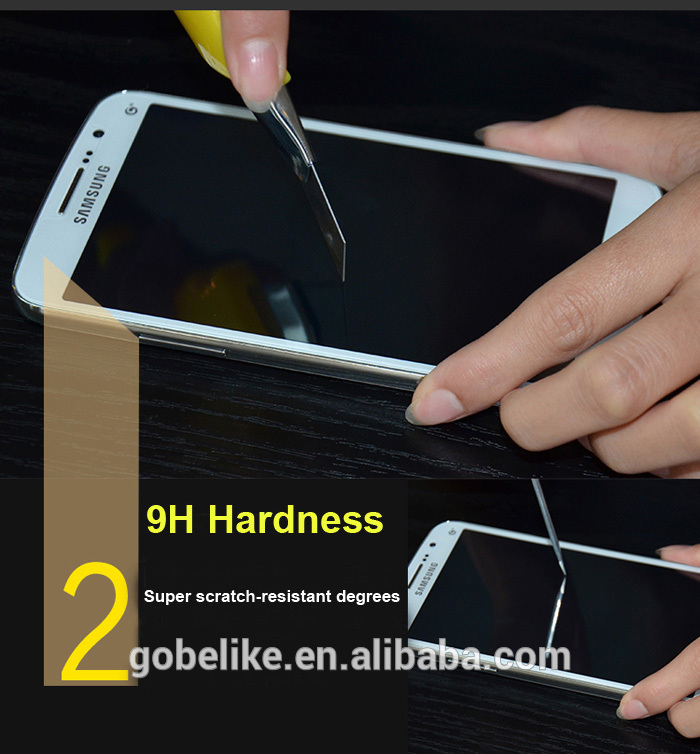 Galaxy S6 tempered glass, 9H hardness tempered glass, OEM&ODM available.