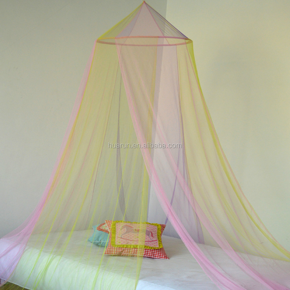 rainbow color mosquito net bed canopy curtain