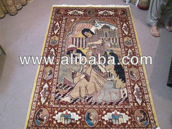 umer liebesgeschichte khayam k nig mughal erra teppich 4x6. Black Bedroom Furniture Sets. Home Design Ideas