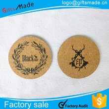 Round Tin Cork Coaster 4 PCS/ Set