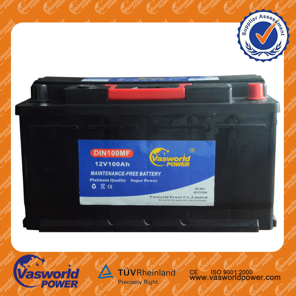Wholesale sealed rechargeable lead acid mf automotive battery with 12v 100ah