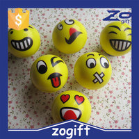 ZOGIFT 90mm PU Foam smiley face stress ball