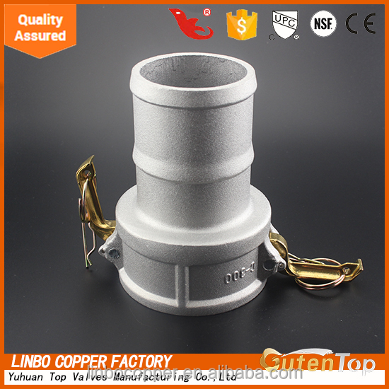 Higher flow capacity quick camlock coupling types of plastic water pipe