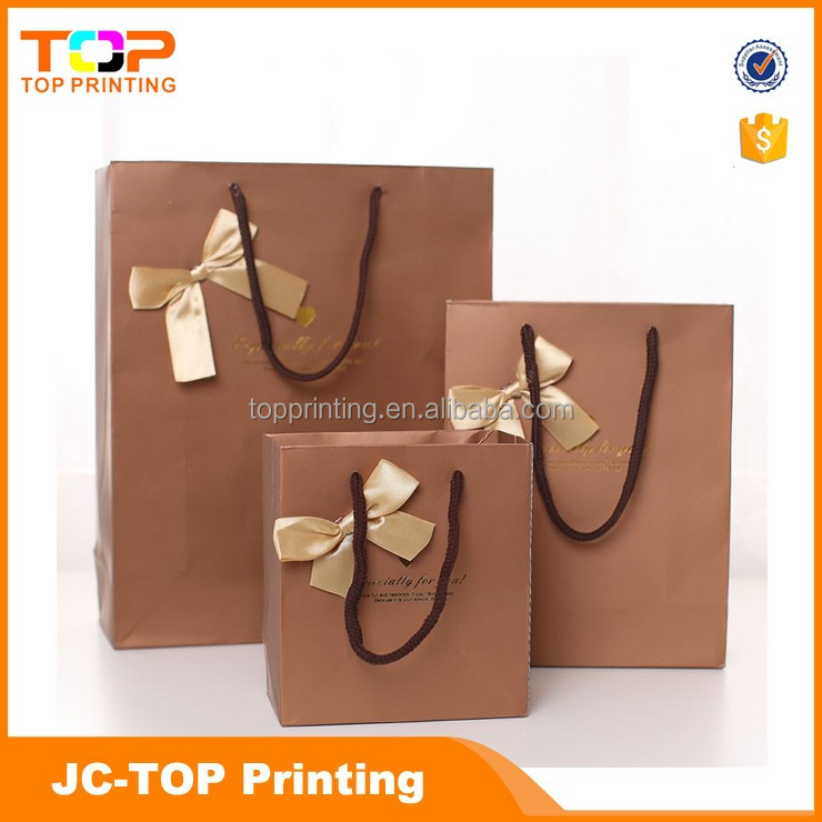 Printed logo personalized brown paper bags