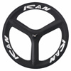 High quality road bike carbon 3 spoke wheels,cheap bike Wheels, customized paintings carbon tri-spoke wheels