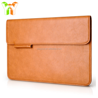 Luxury Leather Business Bags Laptop Sleeve with Pen Slot