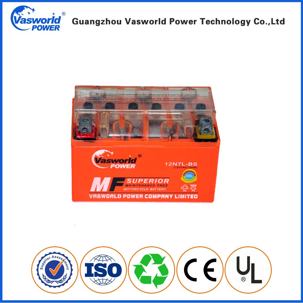China best performance 12v 7ah gel motorcycle battery mf gel battery