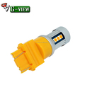 G-View 3157 15smd 3030 Amber color car led light and 12V Voltage led bulb atuomotive parts
