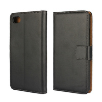 For BlackBerry Z30 Plain Weave Phone Wallet Case Leather Pouch Bag Cover CA174