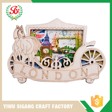 Newest Product Wooden Decor Fridge Magnet Of London Horse Car
