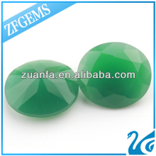 lab created big jade green loose glass gemstones