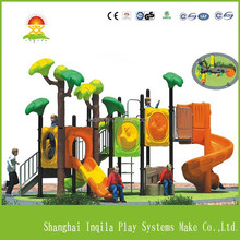 Children outdoor playground big plastic slides