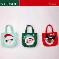 Factory price brushed fabric christmas gift guess handbags Christmas decoration