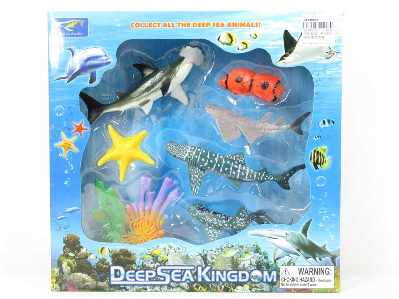 underwater world wonderful deep sea fish set animal toy EN71