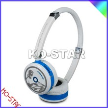 KO-STAR,NEW! Fashion Sport Wireless Headset Headphone MP3 Music Player SD TF Card Slot headphone with mic