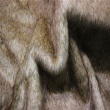 Luxurious Brown Discharge faux fur fabric For fashion coats