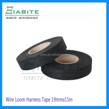19mm x15m Black High Temp Fuzzy Fleece Interior Wire Loom Harness Tape for Auto