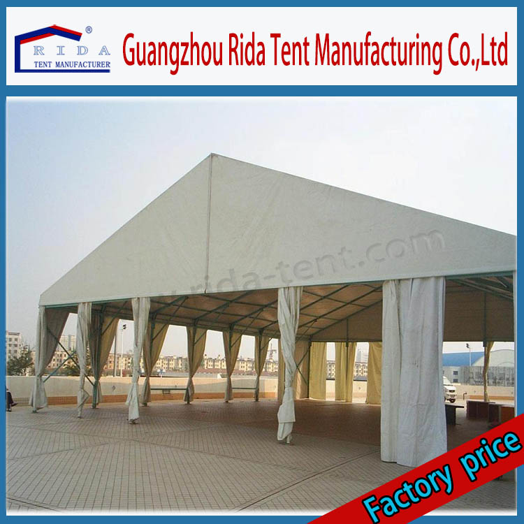Big PVC Fabric Party Canopy Tent With White Drape