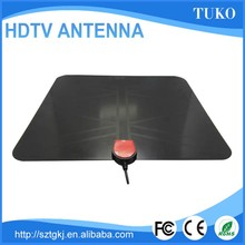 25 dbi omnibearing super thin amplified HDTV Digital Indoor TV Antenna