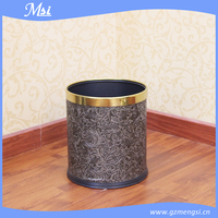 Elegant single layer guestroom antique design decorative recycling waste bin