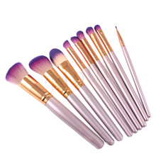 Stock High quality synthetic makeup brushes silk nylon hair beauty cosmetic brush (9Pcs)