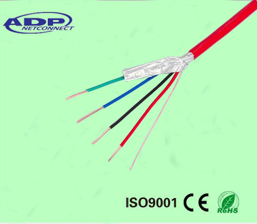 fIre cable 4core shielded fire resistant twisted pair cable