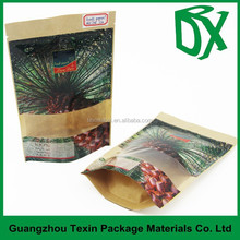 New style! Guangzhou suppliers kraft paper stand up date palm saudi arabia pouches
