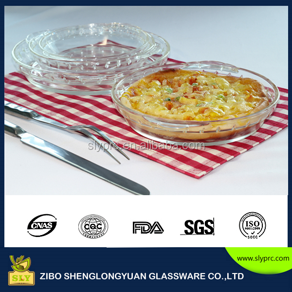 Pyrex borosilicate round glass pizza pie plate kitchen glass food bake dish set