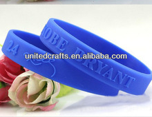 factory direct custom silicone wristband debossed elegant rubber band
