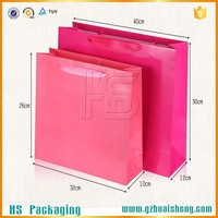 Durable water-proof reusable folding laminated paper shopping bag