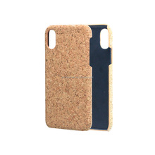 Environmental Cork Wood Leather Mobile Phone Cases Unique Design Personalized Cork Wooden Phone Case Cover for iPhone X