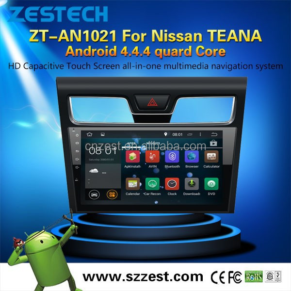 2015 NEW HOT SELLING car dvd gps player for Nissan Android 4.4.4 up to 5.1 OBDII 1.6GHz MCU 3G WiFI