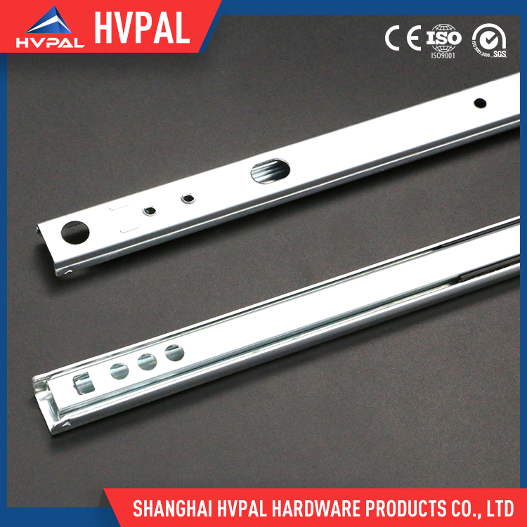 Wholesale high quality&low price 17mm full extension 2-fold ball bearing drawer slides