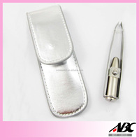 Promotional Electric Stainless Steel LED Tweezers With Pouch