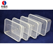 Gold supplier disposable rectangular snack bar packaging plastic containers wholesale takeaway food packaging