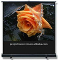 portable floor up projection screen with matte white