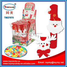 China Supplier christmas hanging decoration with candy for kids christmas weath free sample xmas watch circle