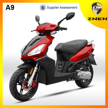 A9 shows its smart and beauty in scooter shop 125cc for sale led light