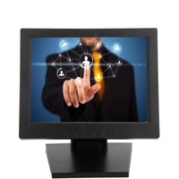 4 Wires resistive 10 inch TFT LCD touch screen monitor for POS