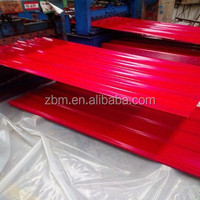 Heat resistant reinforced wholesale corrugated metal roofing sheet