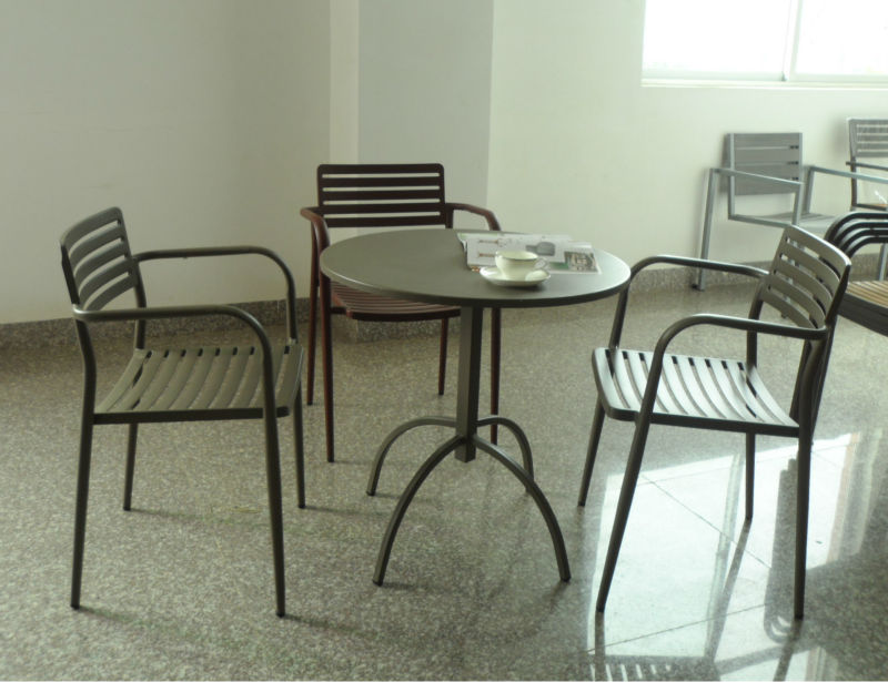 High quality outdoor furniture metal chair used coffee shop