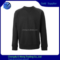 Prewashed Cotton Jersey Stylish Design Men Crewneck No Brand Blank Sweatshirt
