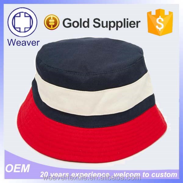 Wholesale Stripe Mens Fabric Bucket Hat Pattern from China