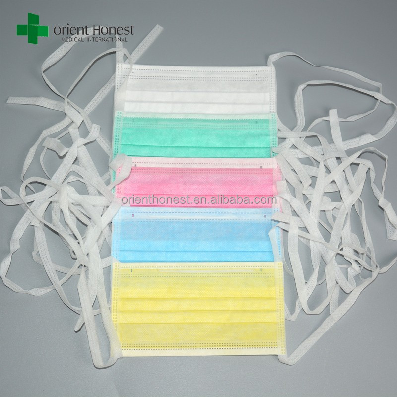 3 Ply Non Woven Tie-on Surgical Mask treated with Spray