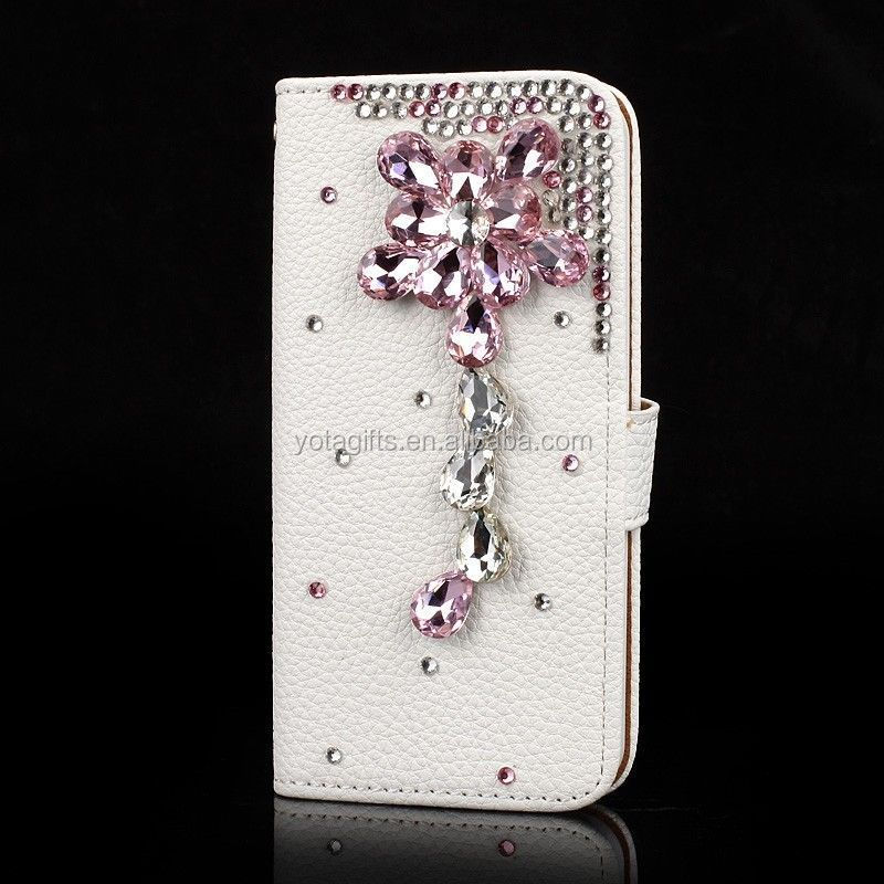 Custom design Crystal bling bling 3d smart phone case for samsung smart phone