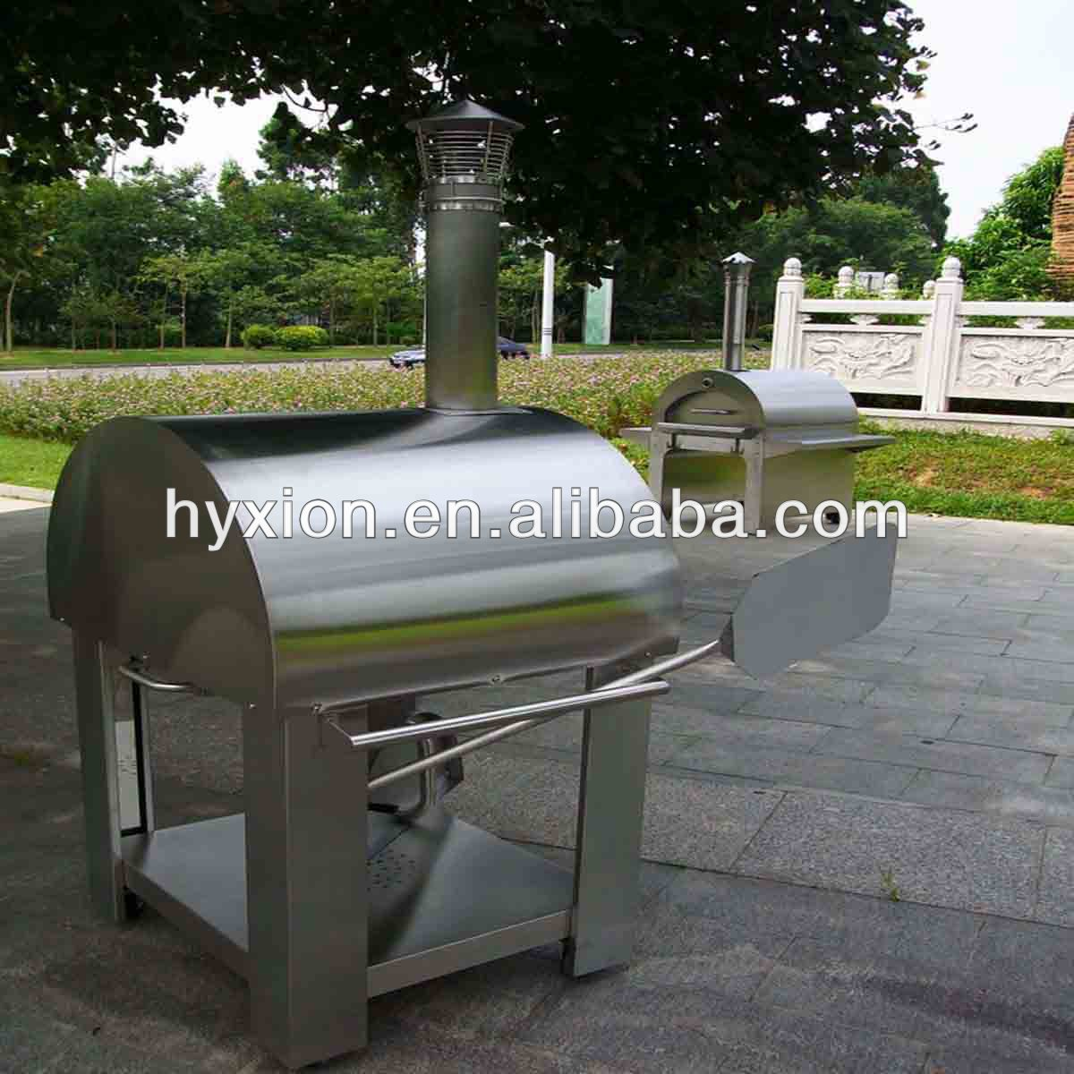 Stainless steel commercial pizza oven brick oven wood fired pizza oven